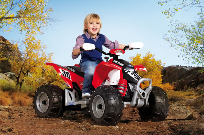 Электроквадроцикл Peg-Perego Polaris Outlaw OR0049Электромобили, детские машины на аккумуляторе<br>Электроквадроцикл Peg-Perego Polaris Outlaw OR0049<br>