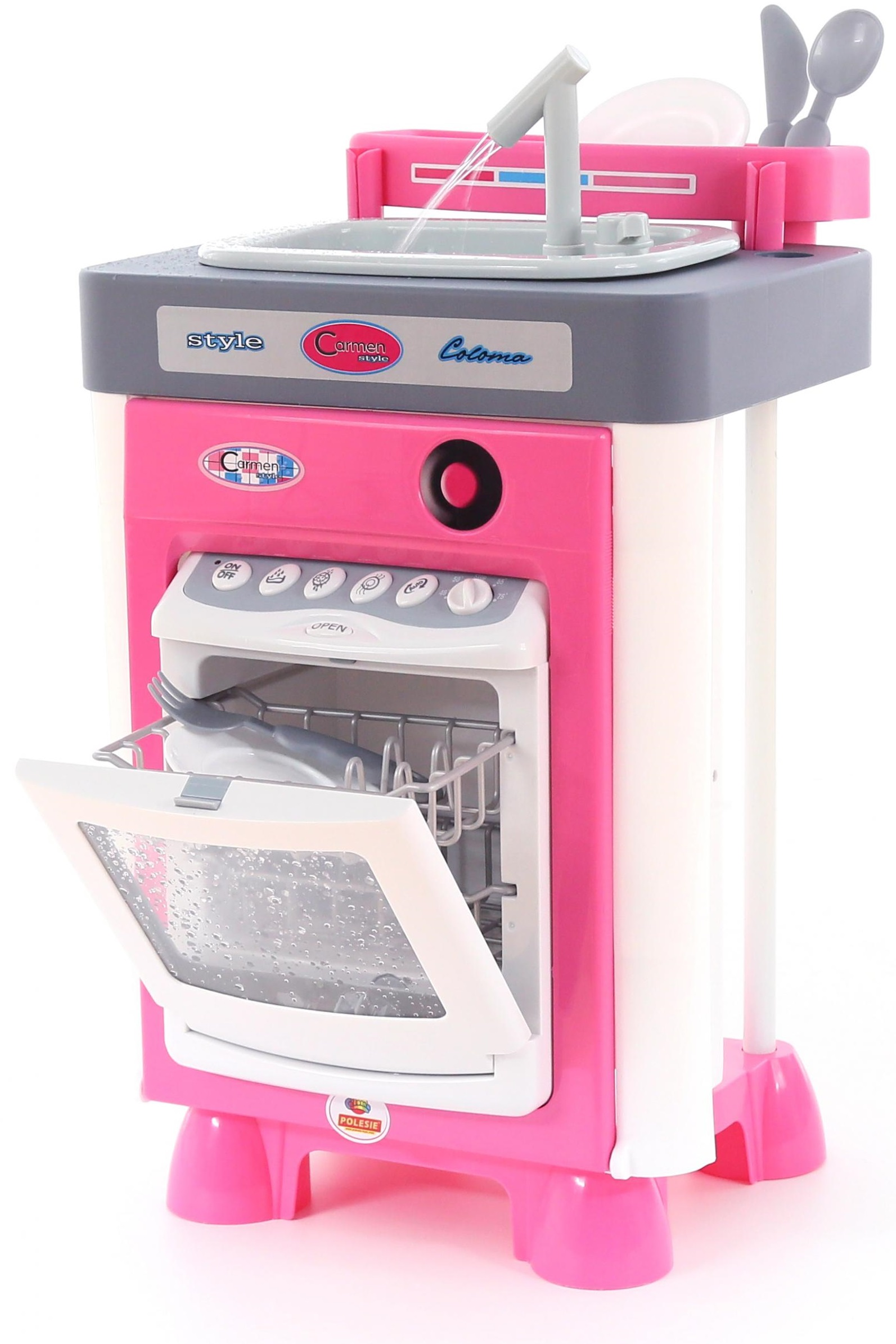 Купить Набор Carmen №3 с посудомоечной машиной и мойкой, Полесье