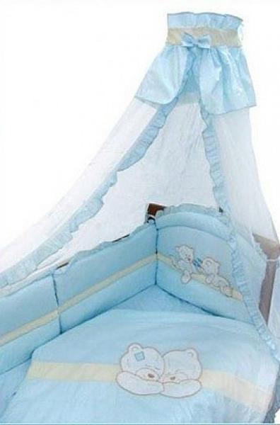 Комплект - Лапушки, голубойДетское постельное белье<br>Комплект - Лапушки, голубой<br>