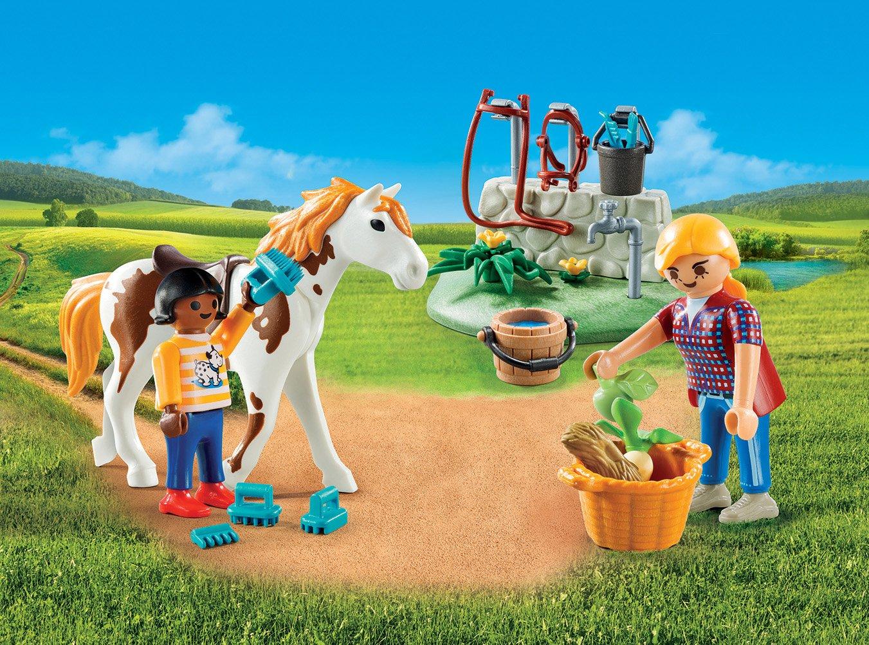 Купить Игровой набор из серии - Возьми с собой: Стрижка лошадей, Playmobil