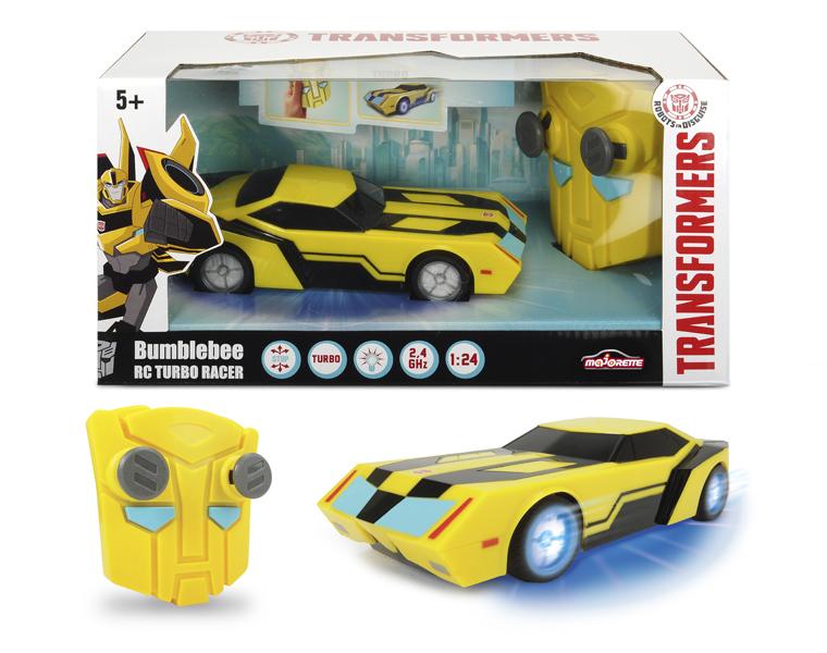 Машинка на радиоуправлении из серии Трансформеры - Bumblebee со светом и звуком, 1:24, 18 см.Игрушки трансформеры<br>Машинка на радиоуправлении из серии Трансформеры - Bumblebee со светом и звуком, 1:24, 18 см.<br>