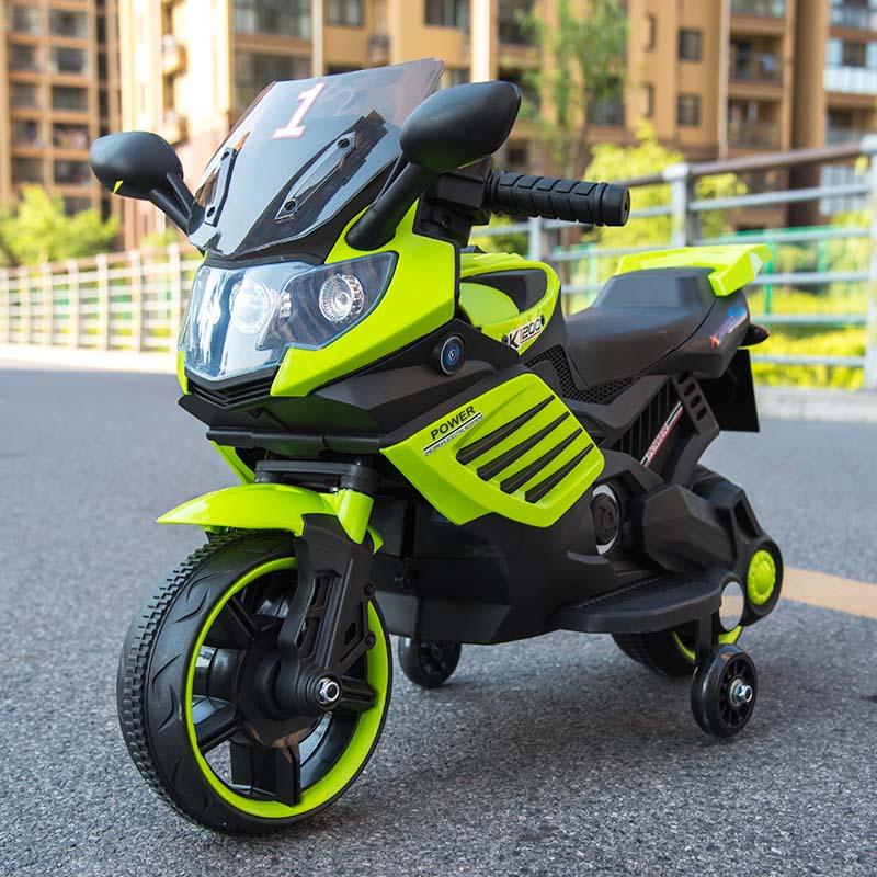 Купить Электромотоцикл - Minimoto LQ 158, зеленый, свет и звук, ToyLand