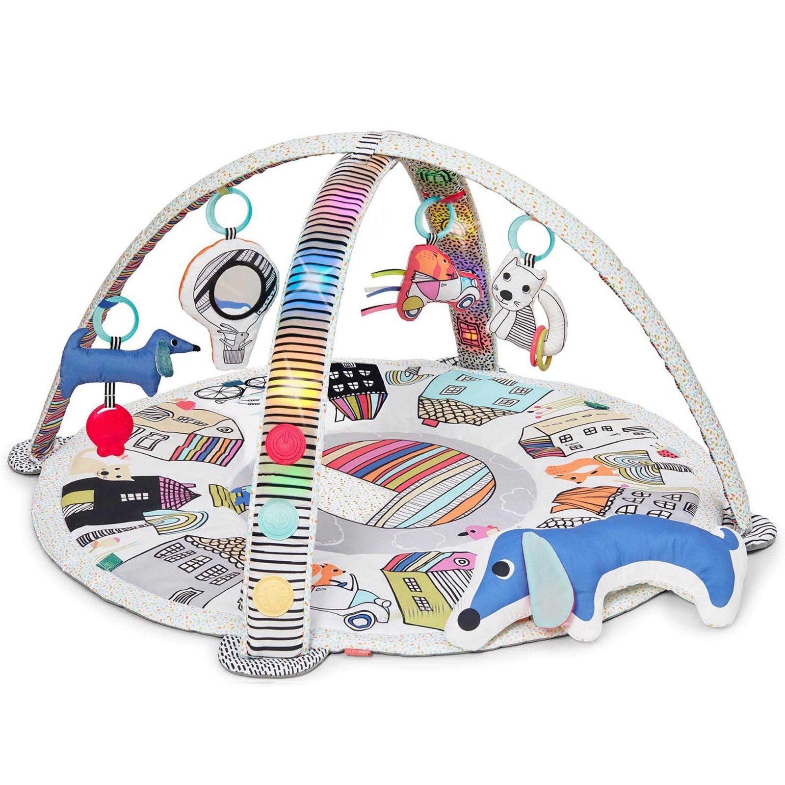 Гимнастический коврик c дугами, свет, звукДетские развивающие коврики для новорожденных<br>Гимнастический коврик c дугами, свет, звук<br>