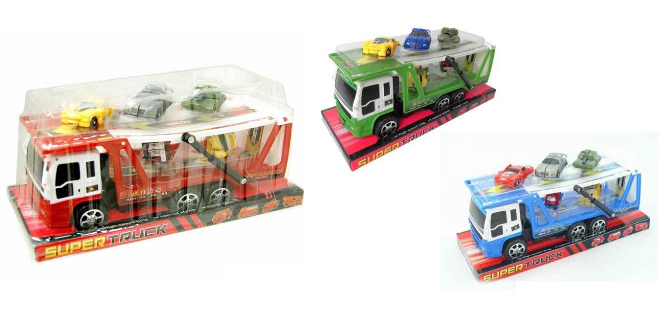 Инерционный автовоз и 5 машинок-трансформеров, JUNFA TOYS  - купить со скидкой