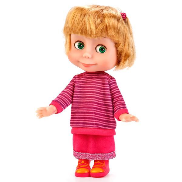 Купить Интерактивная кукла Маша и Медведь – Маша в свитере, 25 см, звук sim), Карапуз