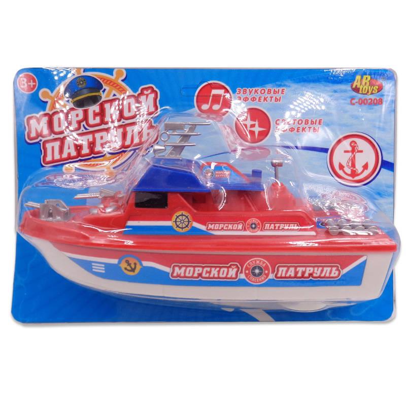 Купить Катер Морской патруль, электромеханический, со световыми и звуковыми эффектами, ABtoys