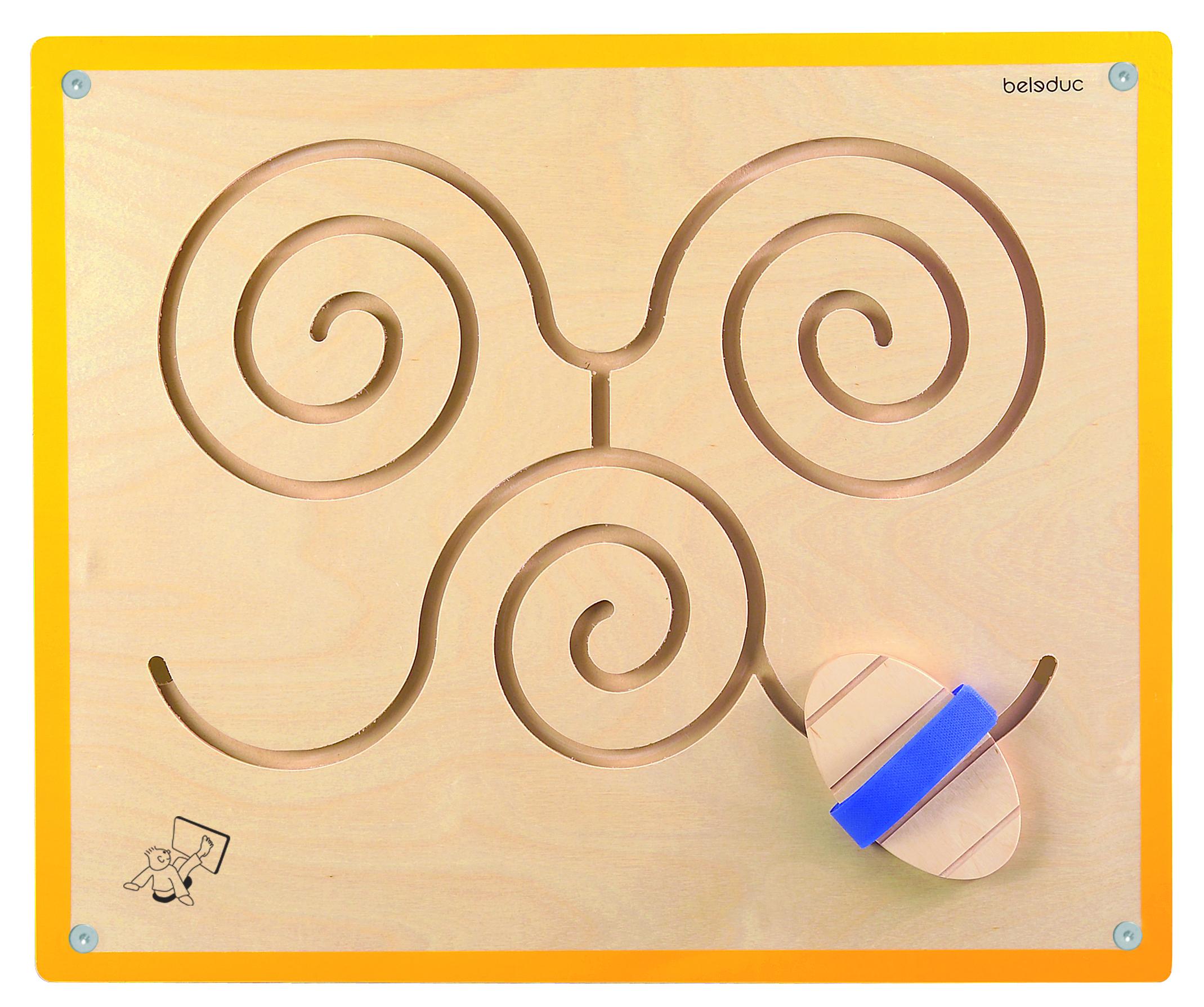Настенный игровой элемент  Бабочка - Деревянные игрушки, артикул: 164486