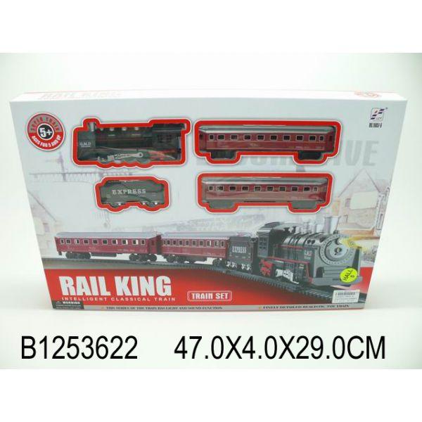 Железная дорога с аксессуарами, свет и звукДетская железная дорога<br>Железная дорога с аксессуарами, свет и звук<br>