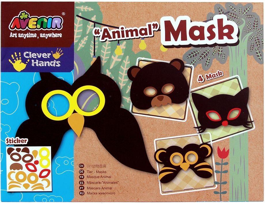 Набор для декорирования масок - ЖивотныеКарнавальные маски и колпаки<br>Набор для декорирования масок - Животные<br>