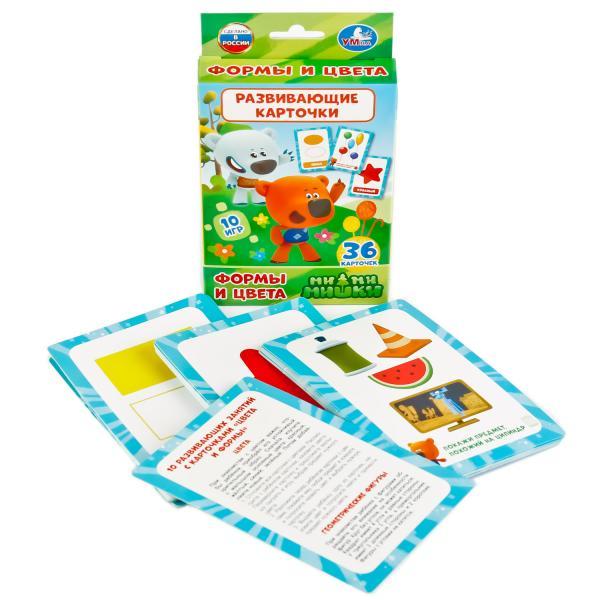 Купить Развивающие карточки Ми-ми-мишки - Формы и цвета, 36 карточек, Умка