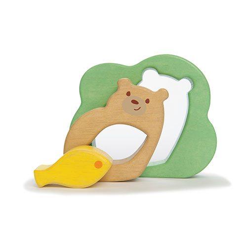 Пазл для малышей  Мишка с рыбкой, 3 элемента - Деревянные игрушки, артикул: 161208