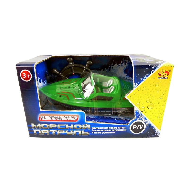 Катер скоростной радиоуправляемый, зеленыйКатера, лодки и корабли на радиоуправлении<br>Катер скоростной радиоуправляемый, зеленый<br>