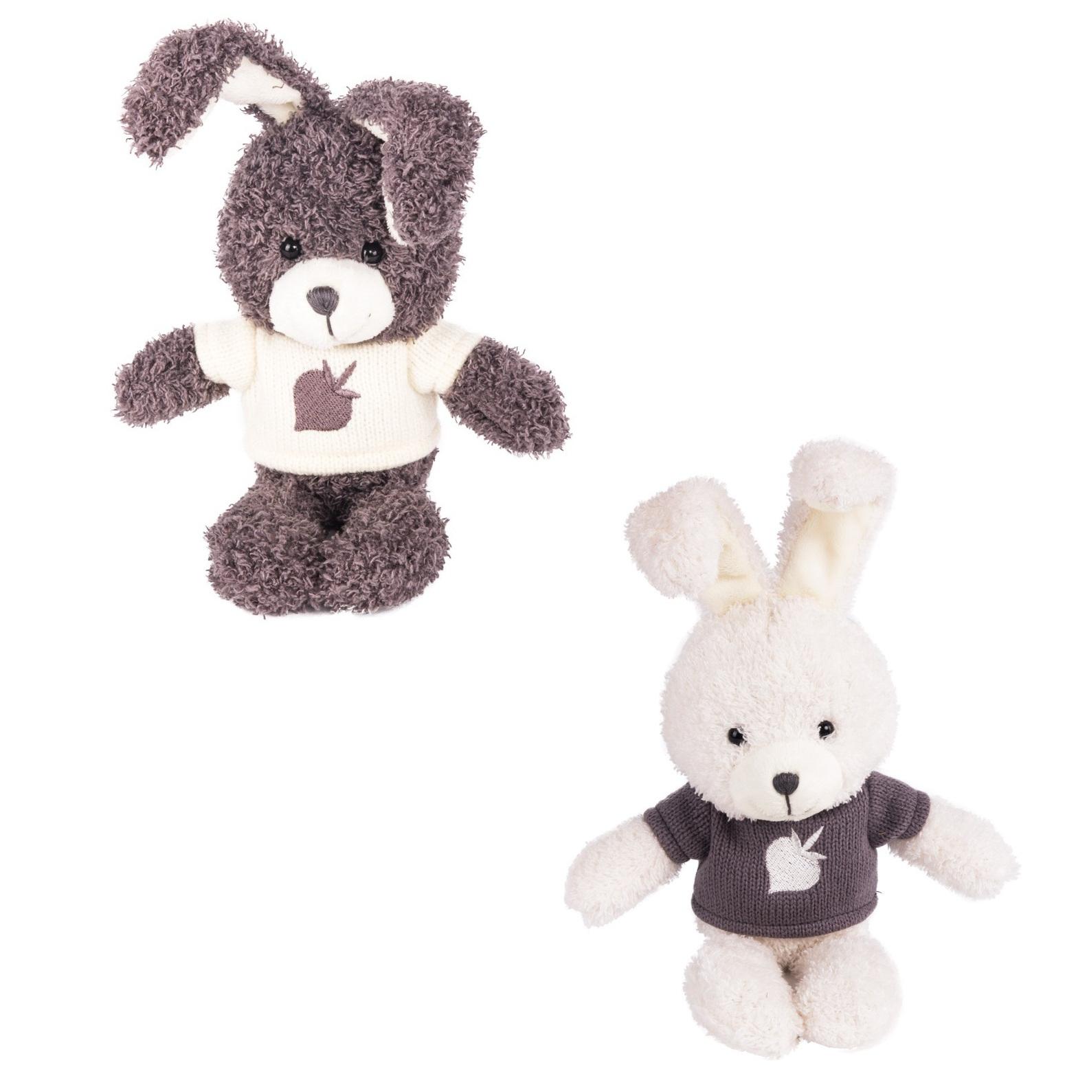 Мягкая игрушка - Зайчик Билли, белый/серый, 20 смЗайцы и кролики<br>Мягкая игрушка - Зайчик Билли, белый/серый, 20 см<br>