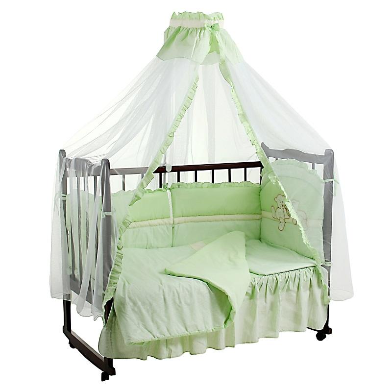Комплект – Лапушки, зеленыйДетское постельное белье<br>Комплект – Лапушки, зеленый<br>