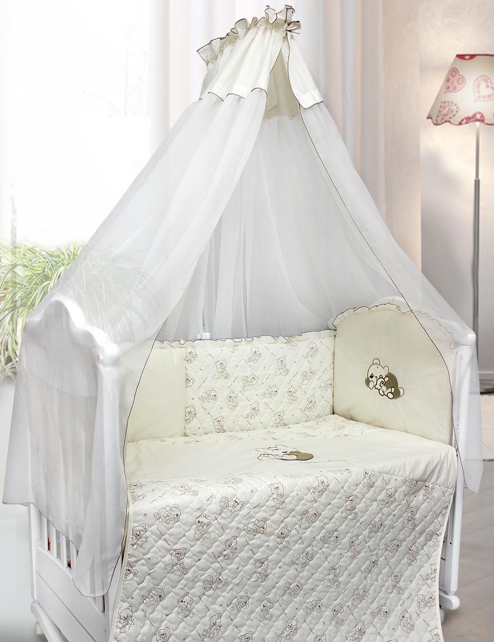 Комплект в кроватку - Bombus, 6 предметовДетское постельное белье<br>Комплект в кроватку - Bombus, 6 предметов<br>