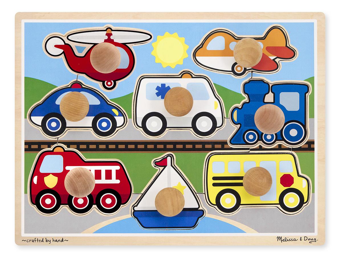 Мои первые пазлы - Первые транспортные средства, 8 элементовПазлы для малышей<br>Мои первые пазлы - Первые транспортные средства, 8 элементов<br>