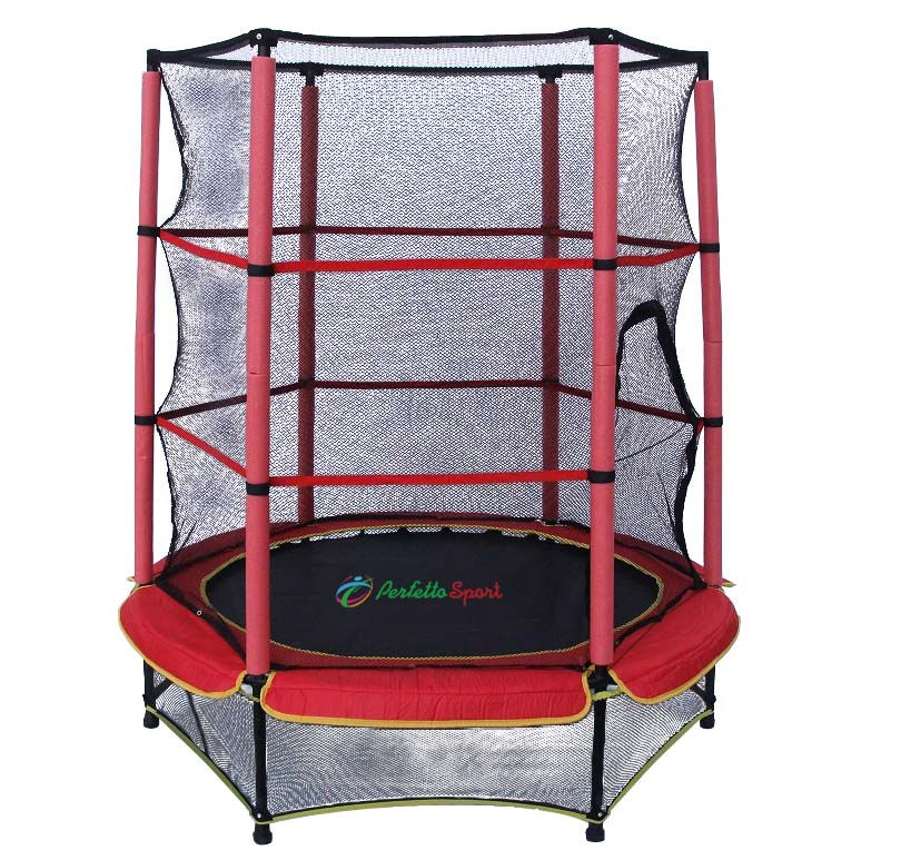 Детский батут с защитной сеткой - Perfetto sport 5, 140 см