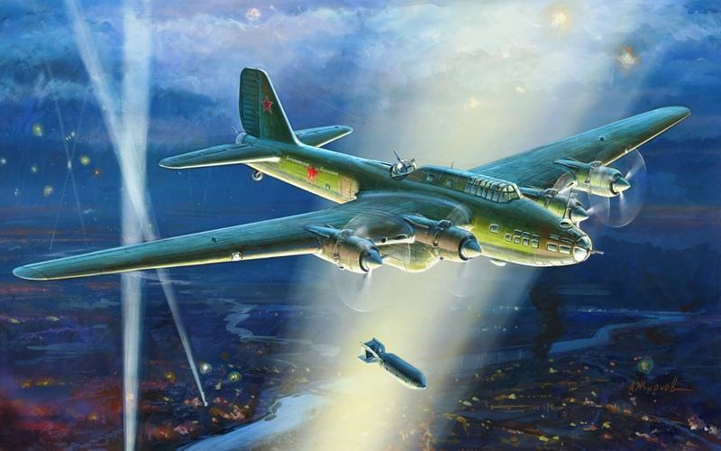 Модель для склеивания  Самолет советский, тяжелый бомбардировщик ТБ-7 - Модели для склеивания, артикул: 98723