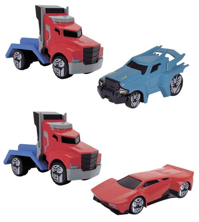 Трансформеры, 2 машинки Die-Cast 7 см, 3 видаИгрушки трансформеры<br>Трансформеры, 2 машинки Die-Cast 7 см, 3 вида<br>