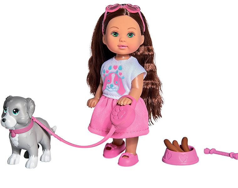Купить Кукла Еви с собачкой и аксессуарами из серии Holiday, 12 см, Simba