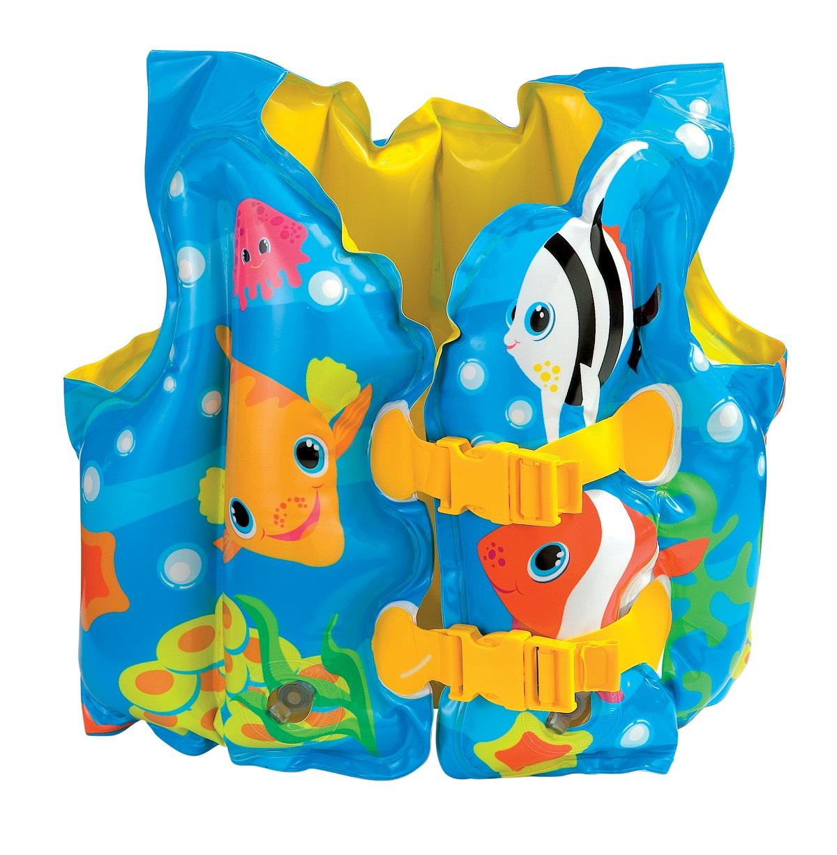 Жилет надувной Веселые рыбкиНарукавники и жилеты<br>Жилет надувной Веселые рыбки<br>