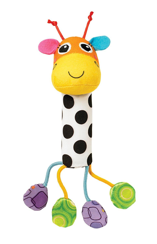 Погремушка - Звонкий жирафДетские погремушки и подвесные игрушки на кроватку<br>Погремушка - Звонкий жираф<br>