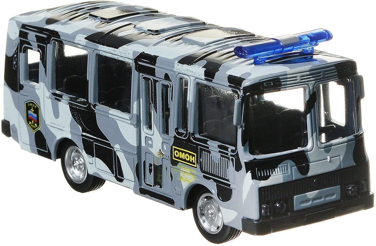 Купить Омон ПАЗ Автобус инерционный металлический, Технопарк