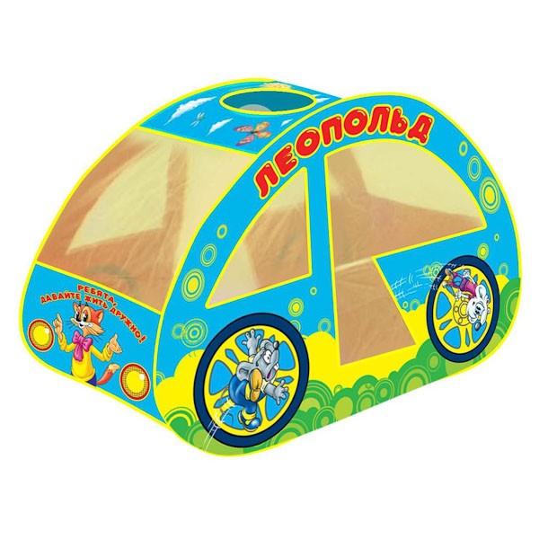 Детская игровая палатка Леопольд машинка в сумкеИгрушки Союзмультфильм<br>Детская игровая палатка Леопольд машинка в сумке<br>