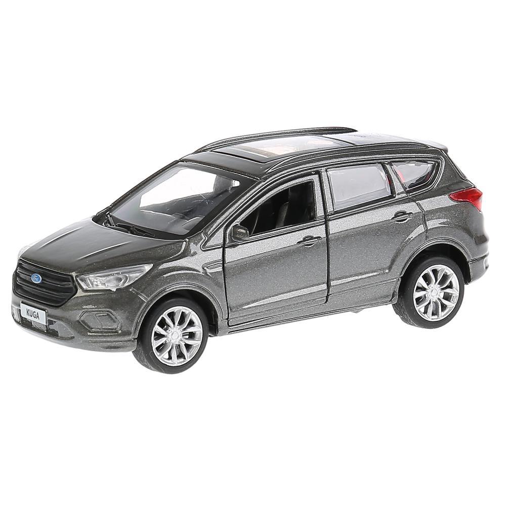 Купить Машина металлическая Ford Kuga 12 см., открываются двери, инерционная, серая, Технопарк