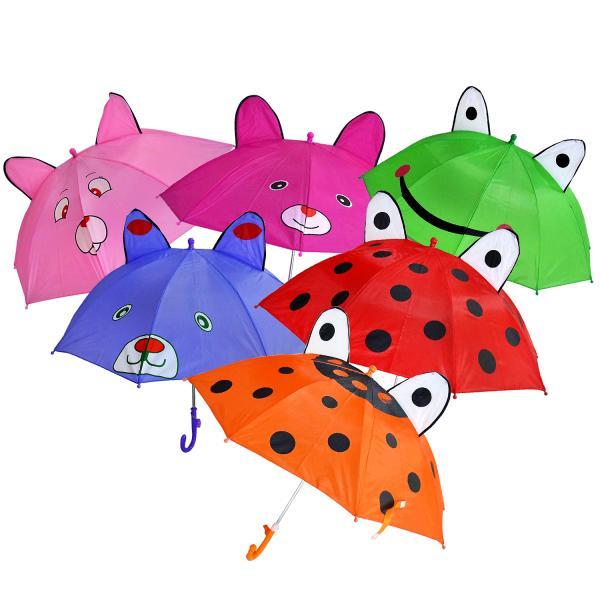 Зонт с ушками диаметр 45 см., со свистком, несколько цветовДетские зонты<br>Зонт с ушками диаметр 45 см., со свистком, несколько цветов<br>