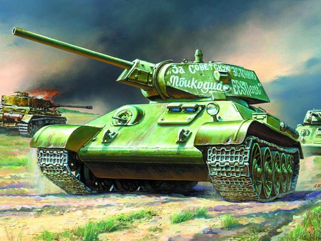 Купить Подарочный набор - Модель для склеивания - Советский танк Т-34/76, ZVEZDA