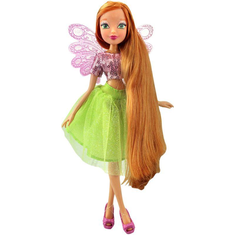 Кукла Флора из серии Winx Club Мерцающее облакоКуклы Винкс (Winx)<br>Кукла Флора из серии Winx Club Мерцающее облако<br>