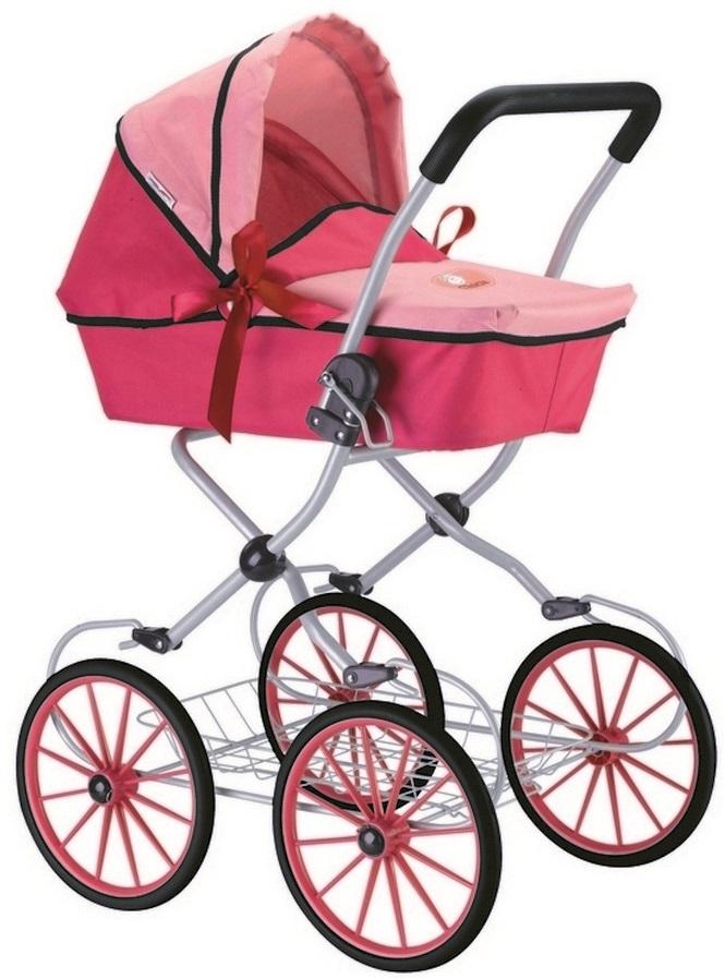 Кукольная коляска, цвет фуксия и розовыйКоляски для кукол<br>Кукольная коляска, цвет фуксия и розовый<br>