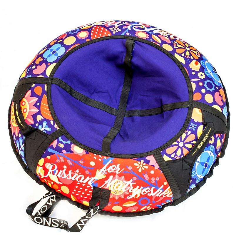 Санки надувные тюбинг дизайн - Цветы, диаметр 105 см.Ватрушки и ледянки<br>Санки надувные тюбинг дизайн - Цветы, диаметр 105 см.<br>