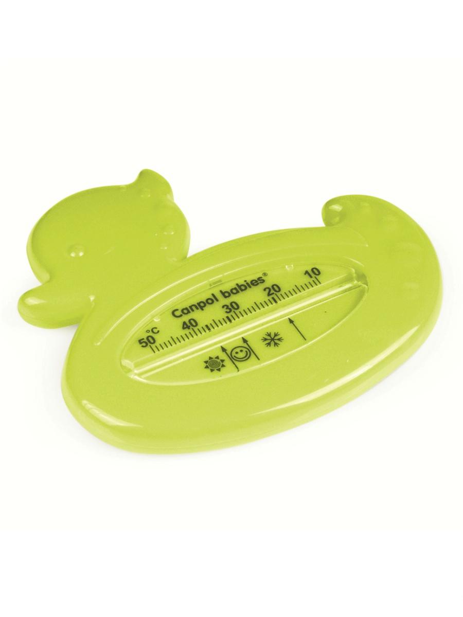 Купить со скидкой Термометр для ванны – утка, зеленая