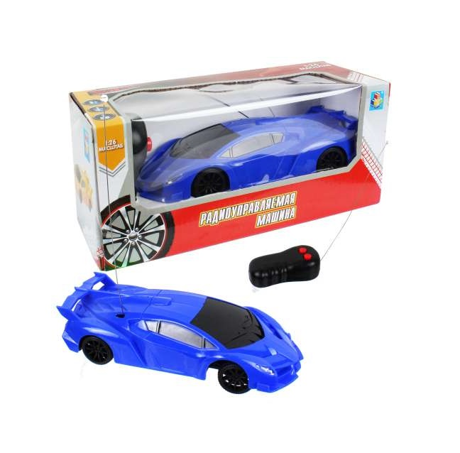 картинка Спортавто машина на радиоуправлении, 27 МГц, 2 канала, синяя, 1:26, 17 см. от магазина Bebikam.ru