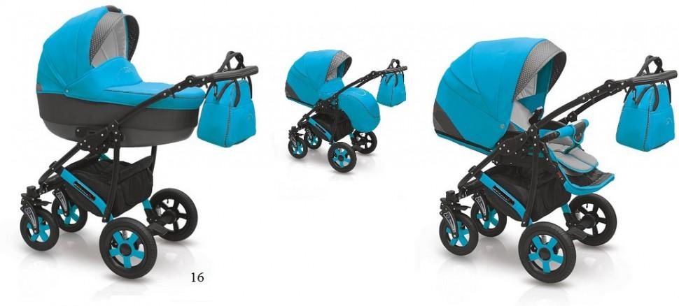 Детская коляска Camarelo Carera 2 в 1, голубаяДетские коляски 2 в 1<br>Детская коляска Camarelo Carera 2 в 1, голубая<br>