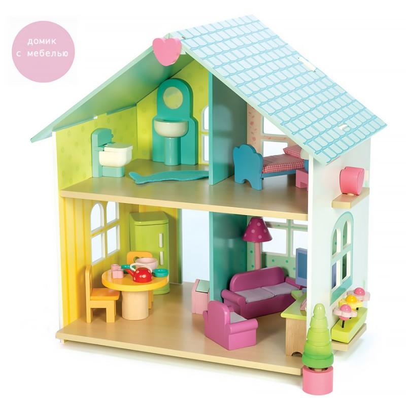 Кукольный домик с мебелью - Лесная сказка Le Toy VanКукольные домики<br>Кукольный домик с мебелью - Лесная сказка Le Toy Van<br>