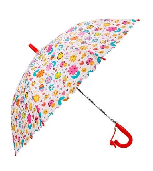 Купить Зонт детский - Цветы, 48 см, полуавтомат, Mary Poppins