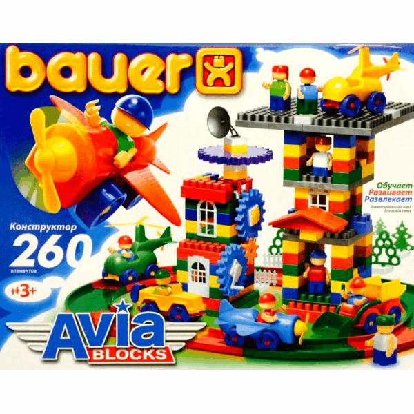 Конструктор «Avia», 260 элементов - Конструкторы Bauer Кроха (для малышей), артикул: 127393