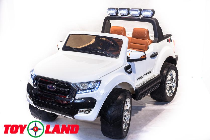 Электромобиль Ford Ranger 2017 NEW 4X4, белого цветаЭлектромобили, детские машины на аккумуляторе<br>Электромобиль Ford Ranger 2017 NEW 4X4, белого цвета<br>