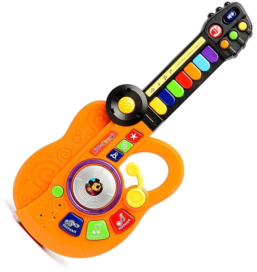 Детская гитара-синтезатор «Маша и медведь» со световыми эффектами - Гитары, артикул: 120855