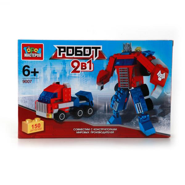 Конструктор 2-в-1 Робот и Грузовик, 150 деталейГород мастеров<br>Конструктор 2-в-1 Робот и Грузовик, 150 деталей<br>