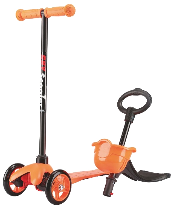 Трёхколесный оранжевый самокат Maxi Scooter SKL-06BТрехколесные самокаты<br>Трёхколесный оранжевый самокат Maxi Scooter SKL-06B<br>