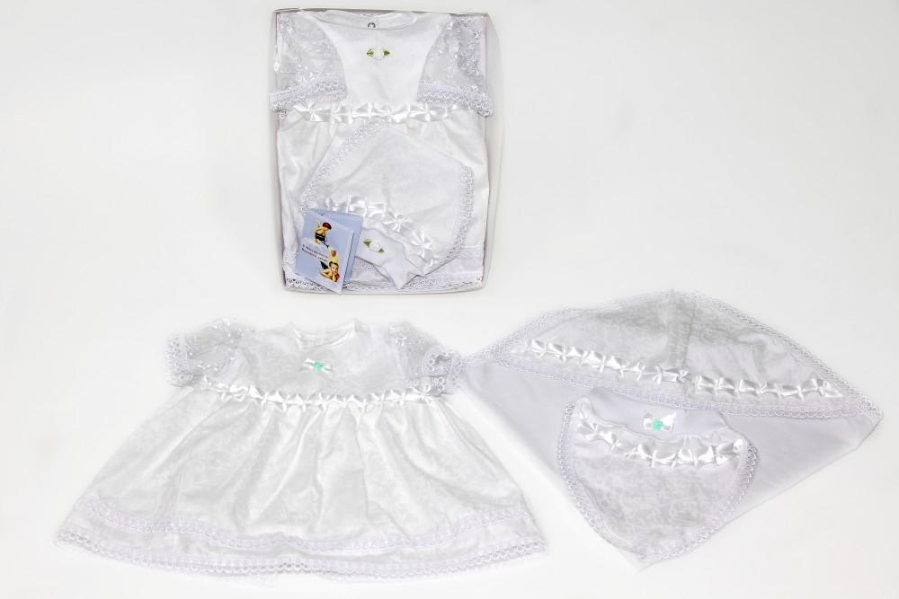 Крестильный набор для девочки, 3 предмета - Одежда для детей, артикул: 168773