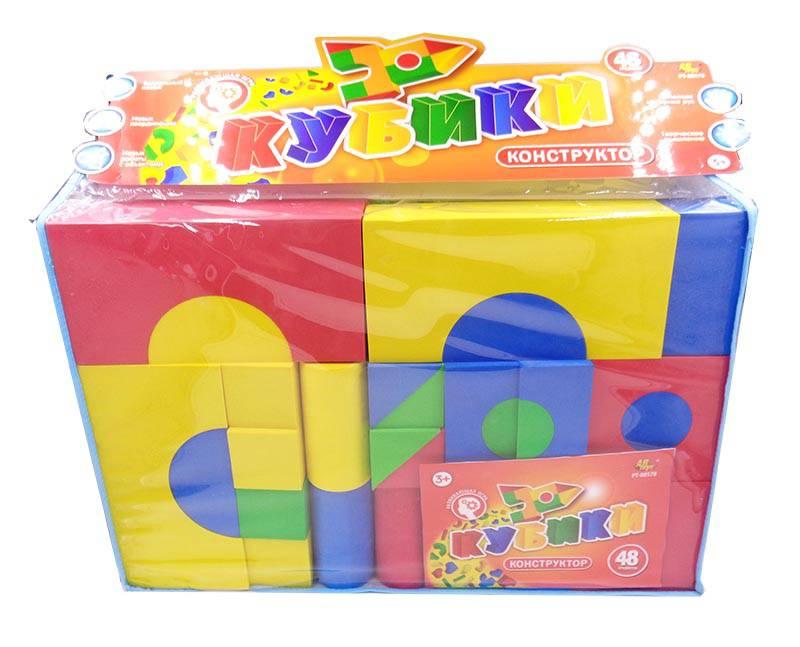 Кубики - Конструктор, в наборе 48 предметовКубики<br>Кубики - Конструктор, в наборе 48 предметов<br>