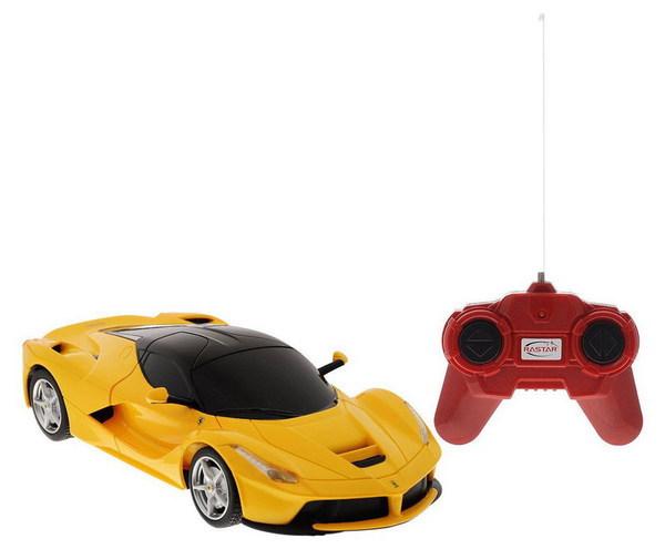 картинка Машина на радиоуправлении 1:24 Ferrari LaFerrari, цвет желтый от магазина Bebikam.ru