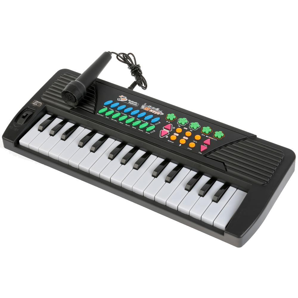 Синтезатор TLF-005USB с микрофоном, 32 клавиши, mp-3 плеер, на батарейках фото