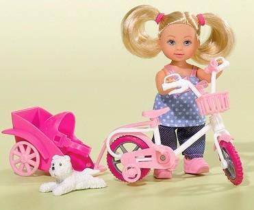 Кукла Еви на велосипедеКуклы Еви<br>Кукла Еви на велосипеде<br>