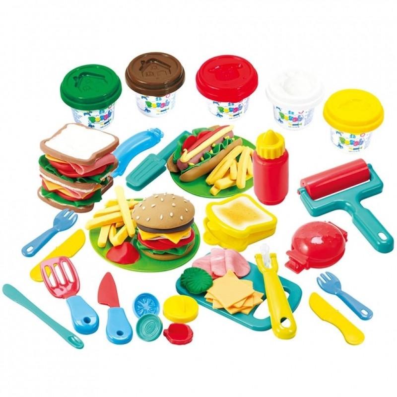 Набор с пластилином ГамбургерНаборы для лепки<br>Набор с пластилином Гамбургер<br>